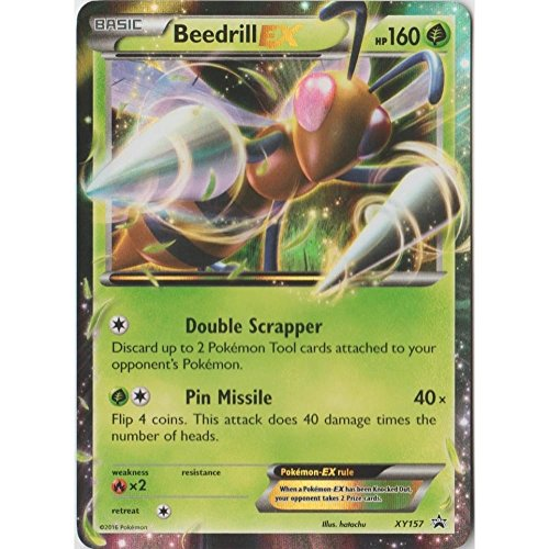 Pokemon - Beedrill EX (XY157) - XY Black Star Promos - Holo (Ex Promo Pokemon Cards)