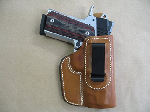 Kimber Compact Holster - Kimber Ultra Carry 1911 Compact IWB Leather In The Waistband Concealed Carry Holster TAN RH