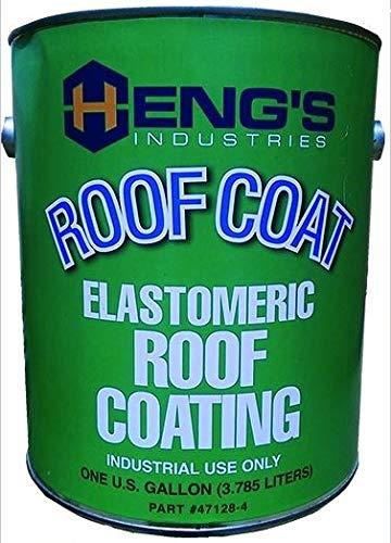 Heng's Industries 47128-4 RV Trailer Camper Sealants Elastomeric Roof Coating Gallon White