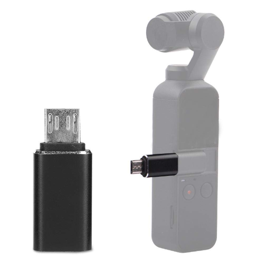 EBTOOLS Per DJI OSMO Pocket Gimbal Tipo-C a Micro-USB Adapter Converter Phone Holder