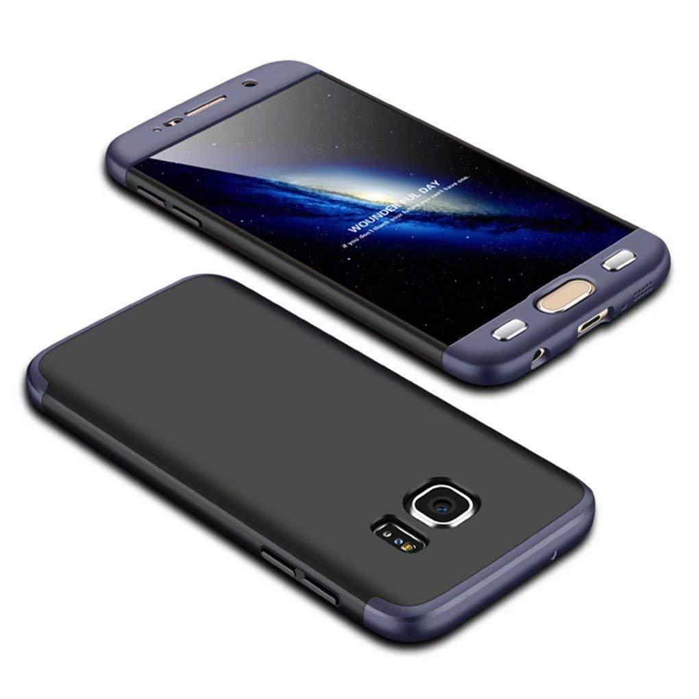 Coque Samsung Galaxy S8 Ttimao PC É tui Rigide [Protecteur D'é cran] Anti Scratch Antichoc Ultra-Mince 360 Degré s Full-Cover Case Triple-en-Un Housse de Protection (Bleu Noir)