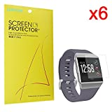 Fitbit Ionic Screen Protector, Lamshaw Premium High Definition Ultra Clear Screen Protector for Fitbit Ionic PET Film Anti-Glare Shield (6 pack)