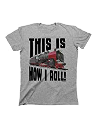 This Is how I Roll Train T-Shirt Boys Girls Kids Unisex Fit