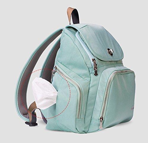 Bolso de la momia, bolso de múltiples funciones de la mamá de gran capacidad, bolso de la madre de los hombros, va el morral, bolso de la madre de la manera ( Color : Verde ) Verde