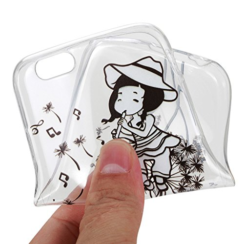 Für Apple iPhone 6 Plus / iPhone 6S Plus (5.5 Zoll) Hülle ZeWoo® TPU Schutzhülle Silikon Tasche Case Cover - HX009 / Löwenzahn -Mädchen