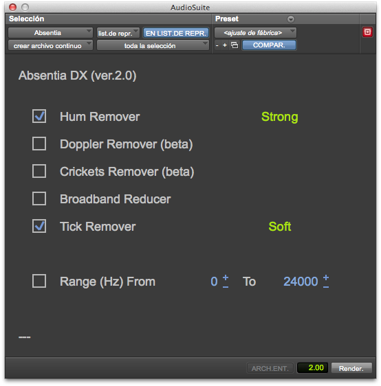 Absentia DX 2 0 (Standalone + Pro Tools AAX Plug-In) - Audio Cleaning  Software for Voice & Dialogue [Download]
