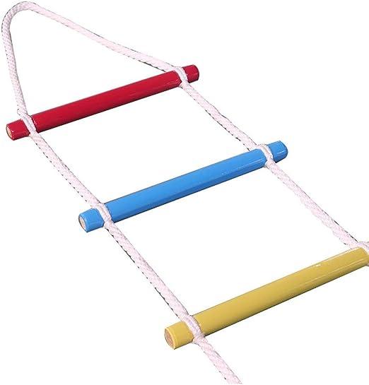 Escalera de Cuerda de Escape de Incendios – Escalera de Seguridad de Emergencia Resistente al Fueg para Niños y Adultos Escapar de la Ventana y el Balcón,5m-30m,Columpios para Parques Infantiles,15m: Amazon.es: Hogar