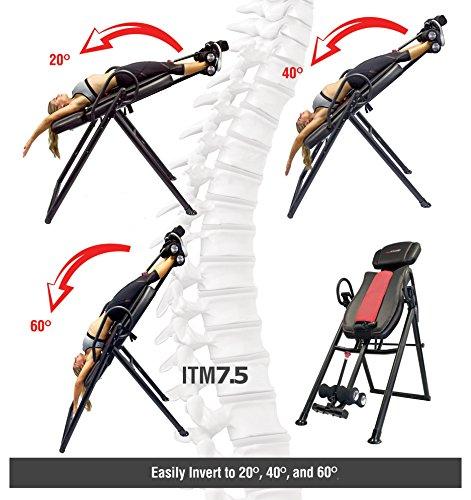 "Health Gear ITM7.5 Big & Tall Inversion Table - 400 lbs, 5'1"" - 7'0"""