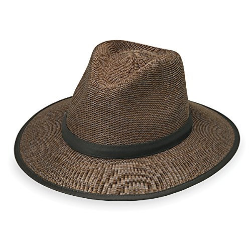 Wallaroo Hat Company Men's Gabe Hat - UPF 50+ Sun Protection, Suede Large/Extra Large (Hat Straw Suede)