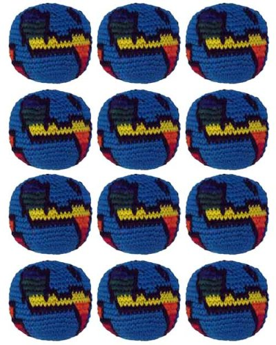 Set of 12 Hacky Sacks - Globe by Turtle Island Imports