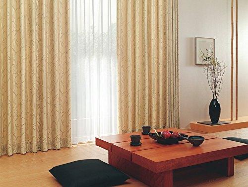 東リ 緻密なサテン地に光沢感のある植物柄 フラットカーテン1.3倍ヒダ KSA60172 幅:300cm ×丈:180cm (2枚組)オーダーカーテン   B0784X1DLP