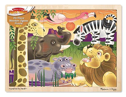 Melissa Amp Doug African Plains Safari Wooden Jigsaw Puzzle