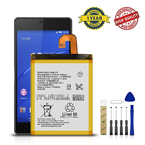 for T-Mobile Sony Xperia Z3 D6616 Replacement Battery LIS1558ERPC Free Adhesive Tool