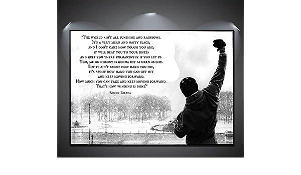 Sylvester Stallone Rocky Balboa signature Art Silk Poster 12x18 24x36