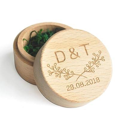 Amazon Com Lovehandmade Personalized Ring Box Custom Ring Bearer