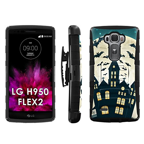 Full Moon Rising- Blitz Hybrid Armor Case for [LG G FLEX2 H950 LS996] with Kickstand and Holster by -