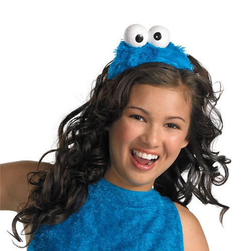 Disguise Women's Sesame Street Cookie Monster Adult Costume Headband, Blue, One (Monster Costume Adults)