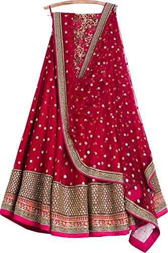 - REKHA Ethinc Shop Embroidered Work Indian Bollywood Designer Lehenga Choli Ethnic Look Women Semi-Stitched Lehenga Choli A311 Maroon