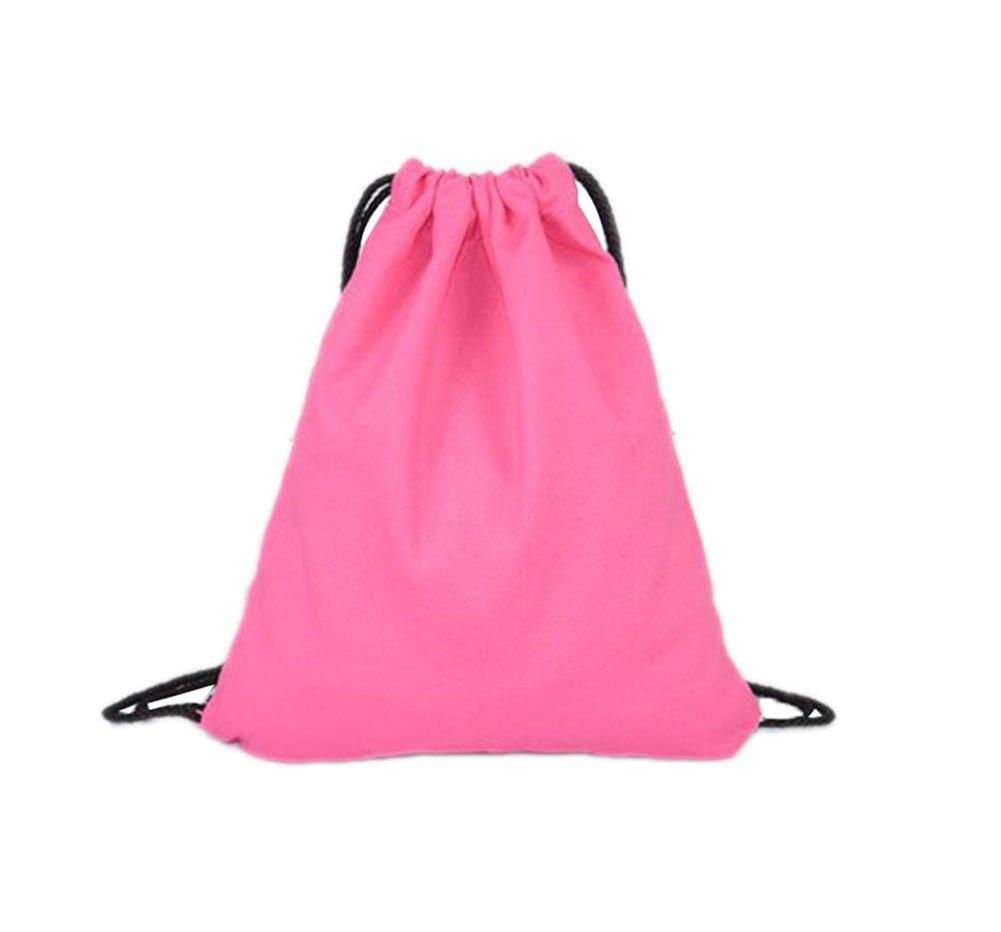iTemer Drawstring Backpack Bag Cotton Shoulder Storage Bag for Travel Gym Sport School Folding Backpack