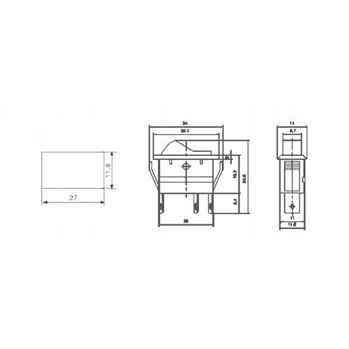 Kfz-Schalter, 3-polig 12V/20A, blau, 2 Stellungen: EIN: Amazon.de ...