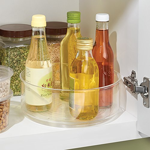 InterDesign Lazy Susan Turntable Spice Organizer Bin For Kitchen Pantry, Cabinet, Countertops, Clear by InterDesign (Image #1)
