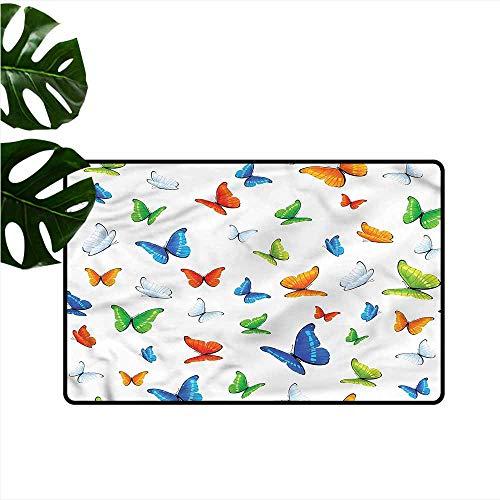 Modern Door mat Butterflies Butterflies Animal Hard and wear Resistant W35 xL59