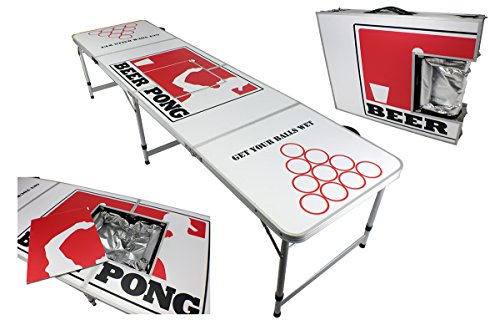 NEW 8' ICE BAG ICY CHEST COOLER BEER PONG TABLE ALUMINUM PORTABLE ADJUSTABLE FOLDING INDOOR OUTDOOR TAILGATE PARTY GAME PONG ON #4 by PONGBUDDY
