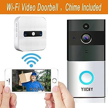 Wifi Wireless Video Doorbell Built-in 8G 720P HD Smart Doorbell with Video Doorbell  sc 1 st  Amazon.com & Amazon.com: Video Doorbell HOMSCAM Wireless Door Bell Smart WiFi ... pezcame.com