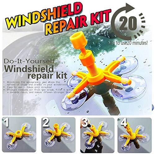 Cutogain Professionelle Qualit/ät Windschutzscheibe Repair Kit Glass Corrector Set Rissreparatur f/ür Auto Fahrzeug