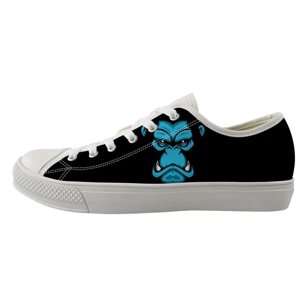 Classic Sneakers Unisex Adults Low-Top Trainers Skate Shoes Vicious Gorilla Face