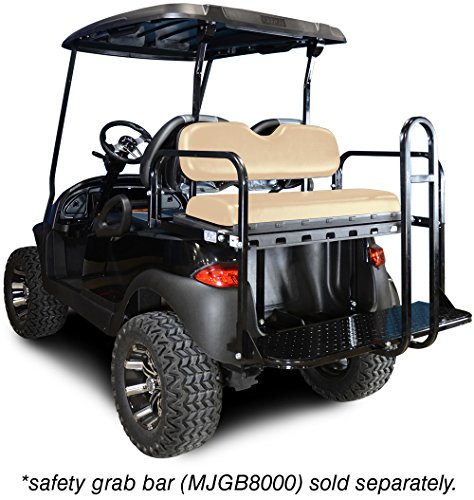 Madjax-01-001-Genesis-150-Rear-Flip-Seat-Kit-for-2004-Up-Club-Car-Precedent-Golf-Carts-Buff-Cushions