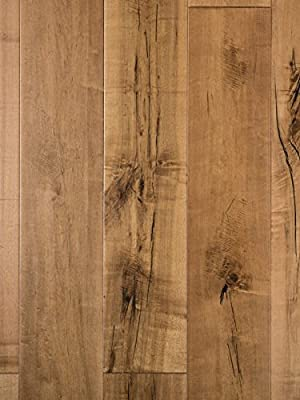 Sandstone Maple Wood Flooring | Hand Scraped | Durable, Strong Wear Layer | Engineered Hardwood | Floor SAMPLE by GoHaus