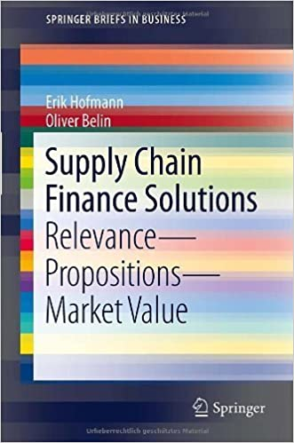 Book Supply Chain Finance Solutions: Relevance - Propositions - Market Value (SpringerBriefs in Business) by Erik Hofmann (2011-04-06)