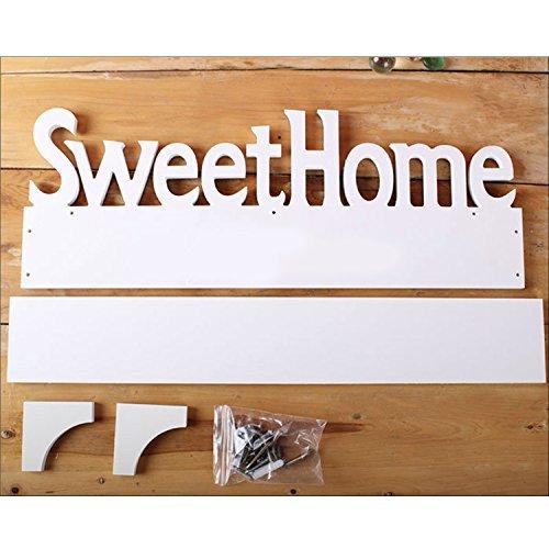 4 Ganchos Home D/écor Regalos Color Blanco Gosear Estilo de Dulce hogar de Ganchos Perchero de Pared Percha con Ganchos extra/íbles