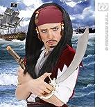 Childrens Jack Sparrow Wig Bandana & Beads Kit Set Pirates Fancy Dress