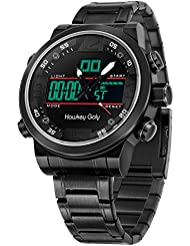 Hawkey Goly Digital Watches for Men Stainless Steel Watch Multifunction Waterproof Chronograph Sports Watch Perfect...