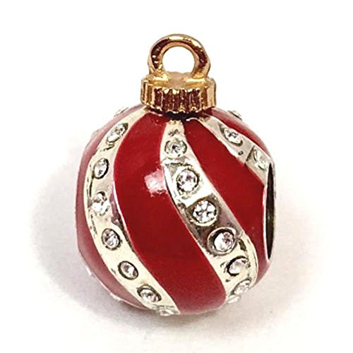 (Brighton Christmas Deco Stopper Bead, J95152, Silver Finish)