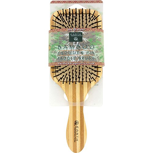 Earth Therapeutics Large Bamboo Lacquer Pin Paddle Brush (Best Brush For Lacquer)