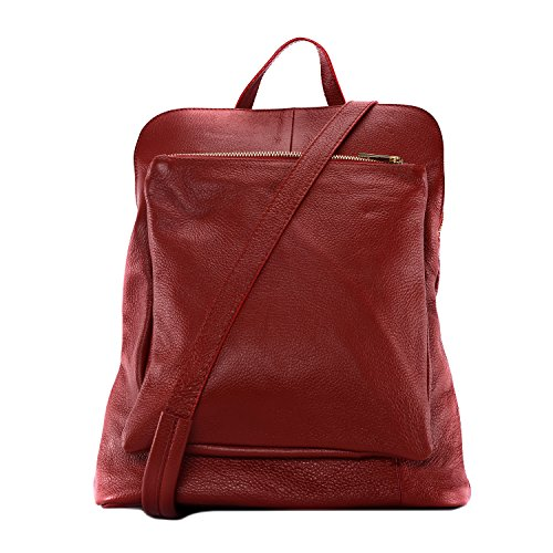 sac grainé à CUIR dos Rouge Sac cuir collection à DESTOCK nouvelle en femme main XIwIrv1