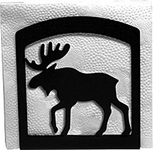 Napkin Holder Moose (Iron Moose Table Napkin Holder - Heavy Duty Metal Serviette Dispenser, Cocktail Napkin Holder)