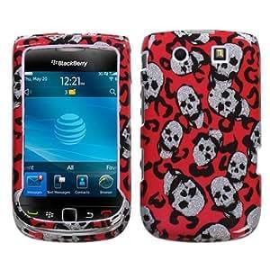 RIM BlackBerry 9800 (Torch) Leopard Skulls (Sparkle) Phone Protector Cover Case