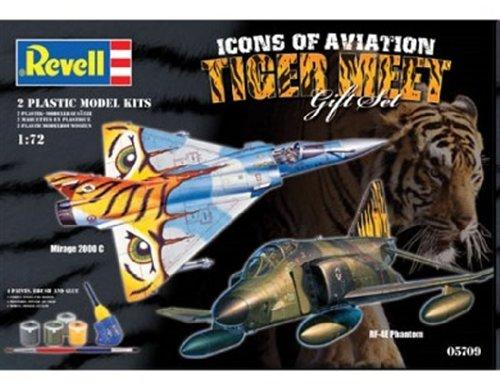 Revell 05709 - Modellbausatz Geschenkset Tigermeet (RF-4E Phantom und Mirage 2000) im Maßstab 1:72