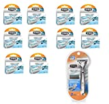 Schick Quattro Titanium Razor- 1 Razor, 2 Cartridges + Schick Quattro Titanium Razor Blades 4 Ct. (10 Pack)