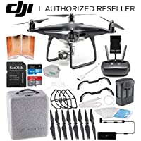 DJI Phantom 4 PRO Obsidian Edition Drone Quadcopter (Black) Starters Flyer Bundle