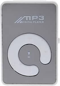 MagiDeal 16G Portable Mini Clip USB2.0 MP3 Music Media TF Card Outdoor Sports White