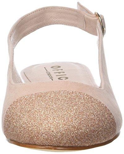 Flats nude Office Beige Back Suede Flossy Ballet Sling Women''s wO1Xq0a