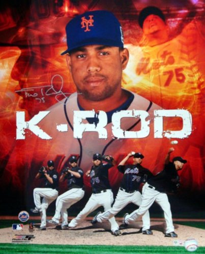 FRANCISCO RODRIGUEZ AUTOGRAPHED 16X20 PHOTO NEW YORK METS MLB HOLO STOCK #16756 ()