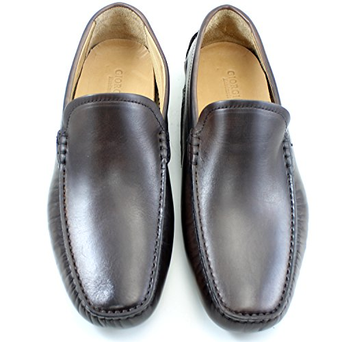 Real Marron Cuero Giorgio Para Brogue Zapatos Oxfords Hombre Hecho Zapatos Mano EN Car Elegante Rea Marron Hombre Mocasines Shoes A Italia Richelieu Fqa1ZfBFw