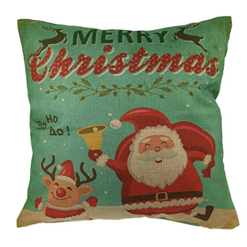 [Bolayu Christmas Linen Square Throw Pillow Case] (Easy Movie Fancy Dress Costumes)