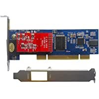 1 Port FXO Card x100p,Low Profile,Supports FreePBX Issabel Dahdi Asterisk PCI Card FXO